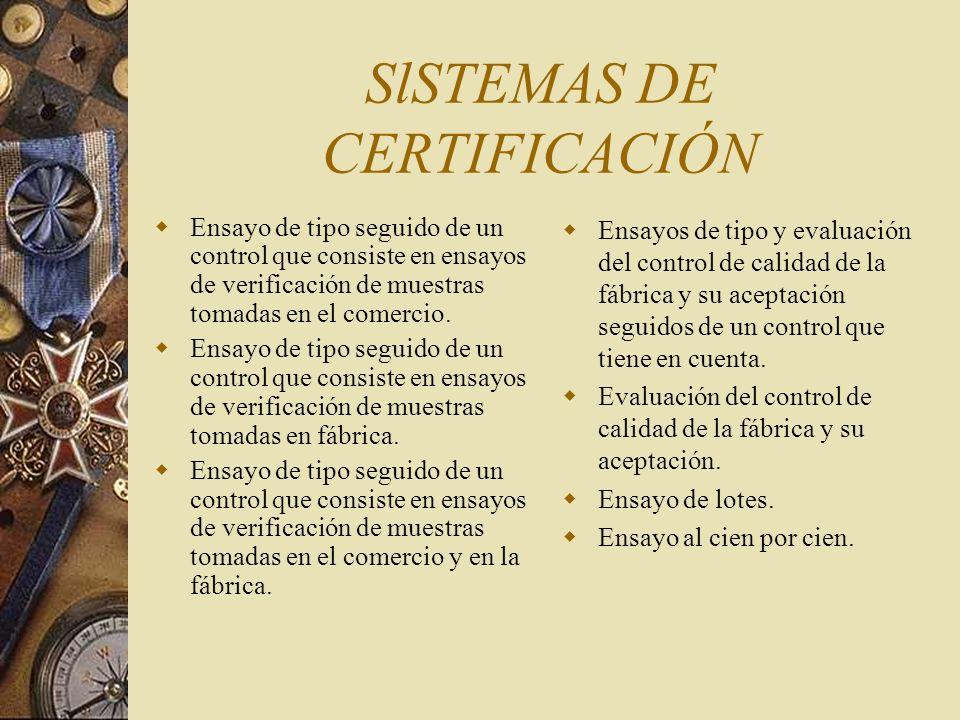 SlSTEMAS DE CERTIFICACIÓN