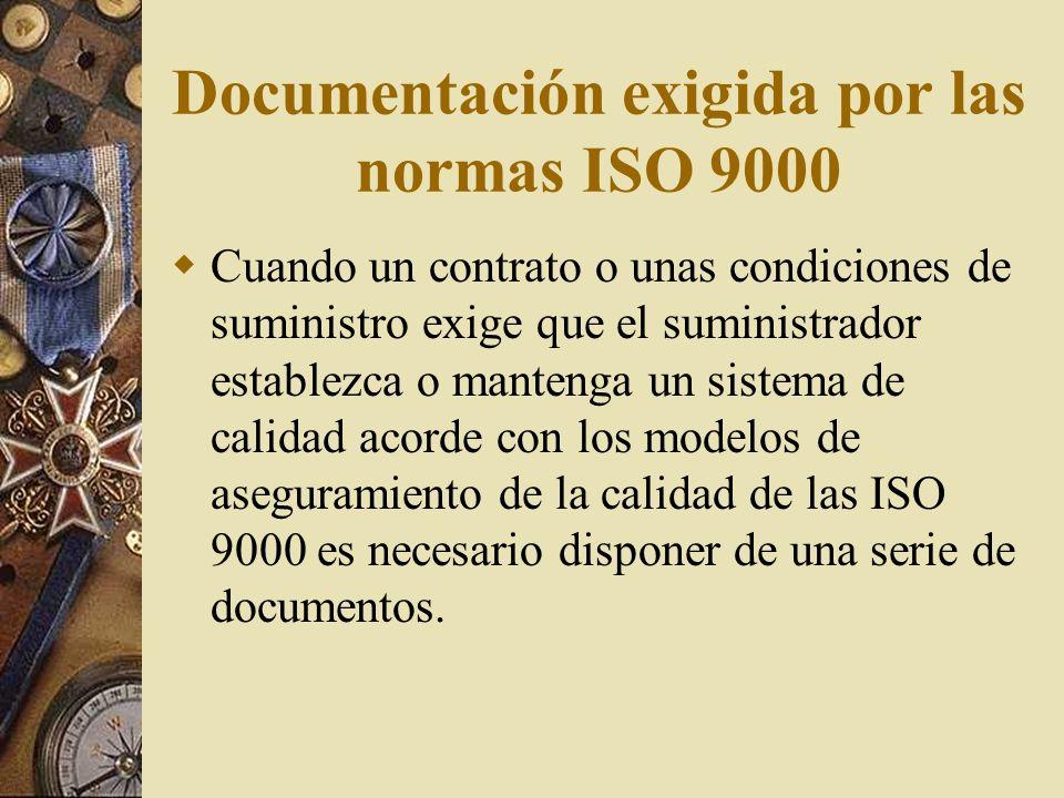 Documentación exigida por las normas ISO 9000