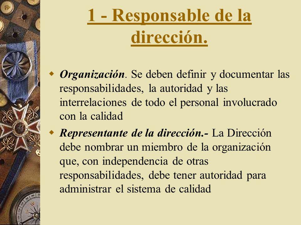 1 - Responsable de la dirección.