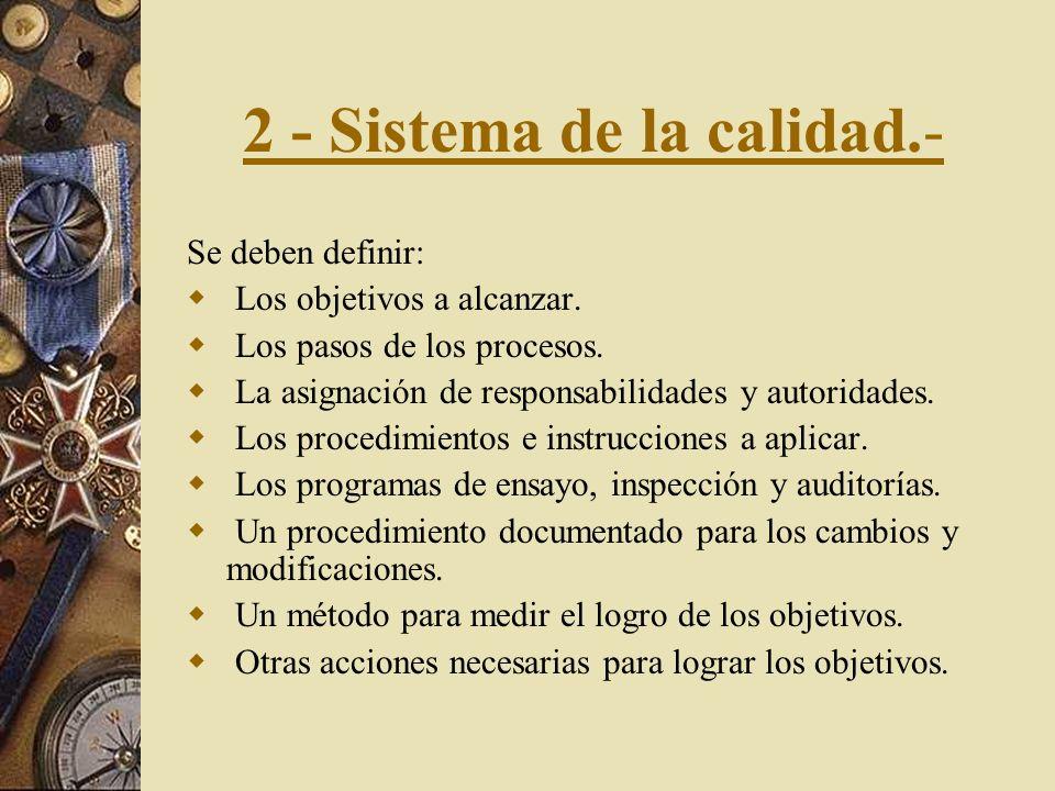 2 - Sistema de la calidad.-