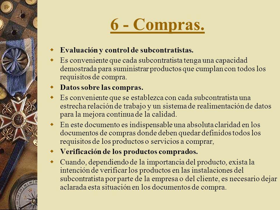 6 - Compras. Evaluación y control de subcontratistas.