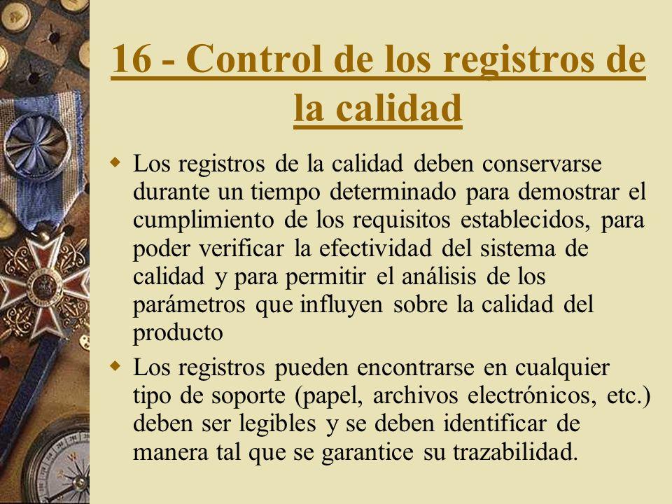 16 - Control de los registros de la calidad