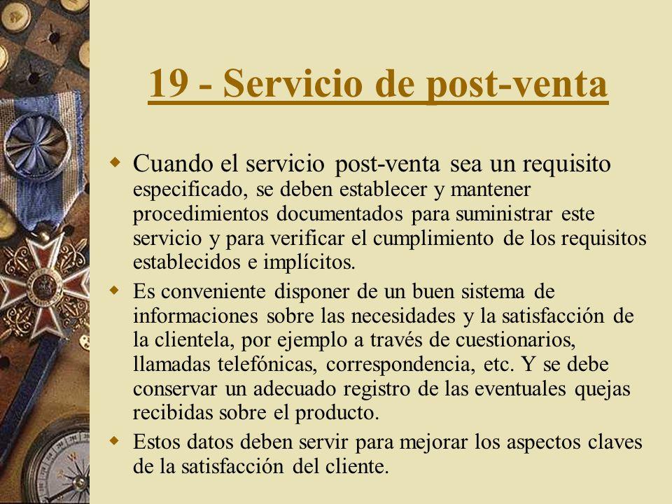19 - Servicio de post-venta