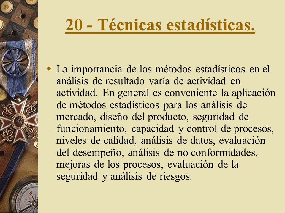 20 - Técnicas estadísticas.