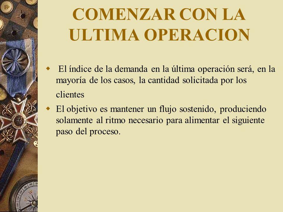 COMENZAR CON LA ULTIMA OPERACION