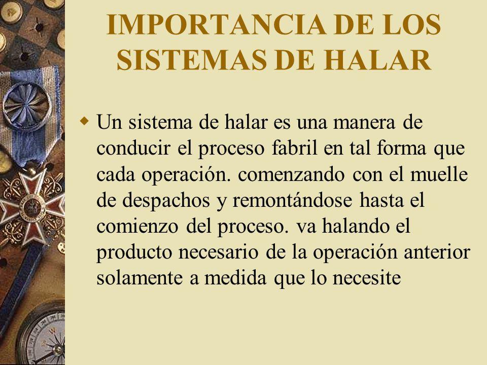 IMPORTANCIA DE LOS SISTEMAS DE HALAR