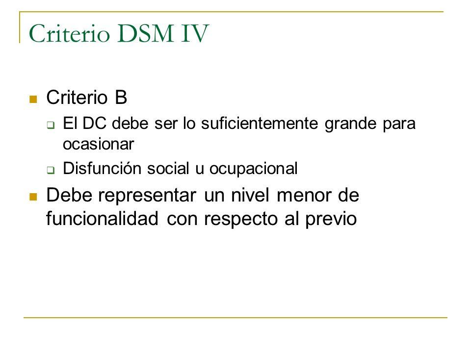 Criterio DSM IV Criterio B