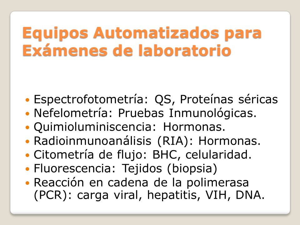 Equipos Automatizados para Exámenes de laboratorio