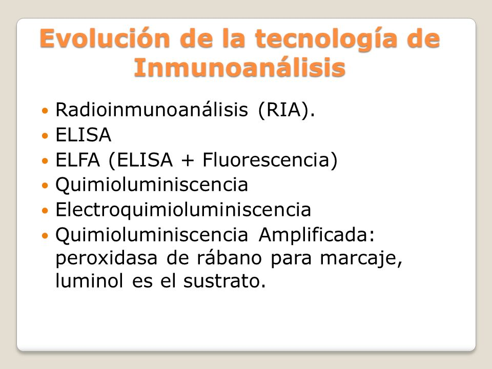 Evolución de la tecnología de Inmunoanálisis