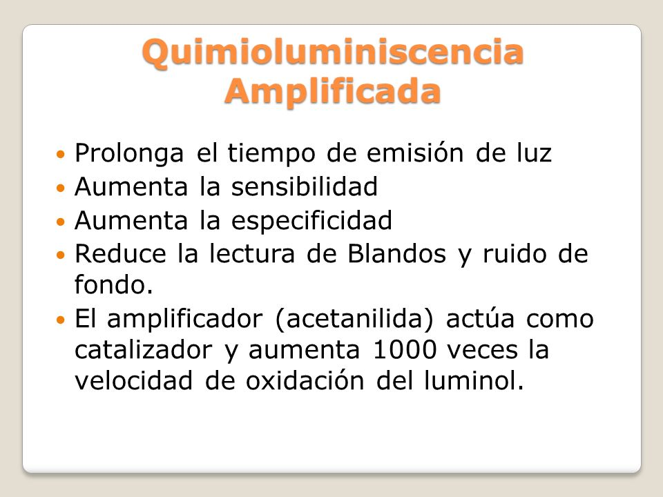 Quimioluminiscencia Amplificada