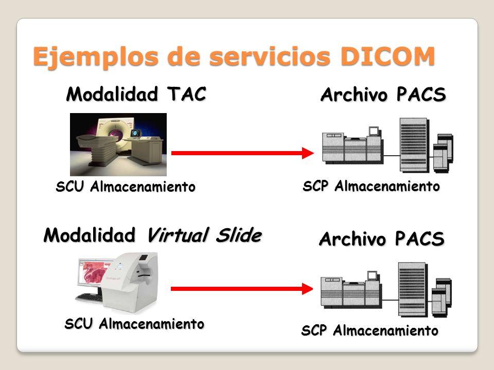 Ejemplos de servicios DICOM
