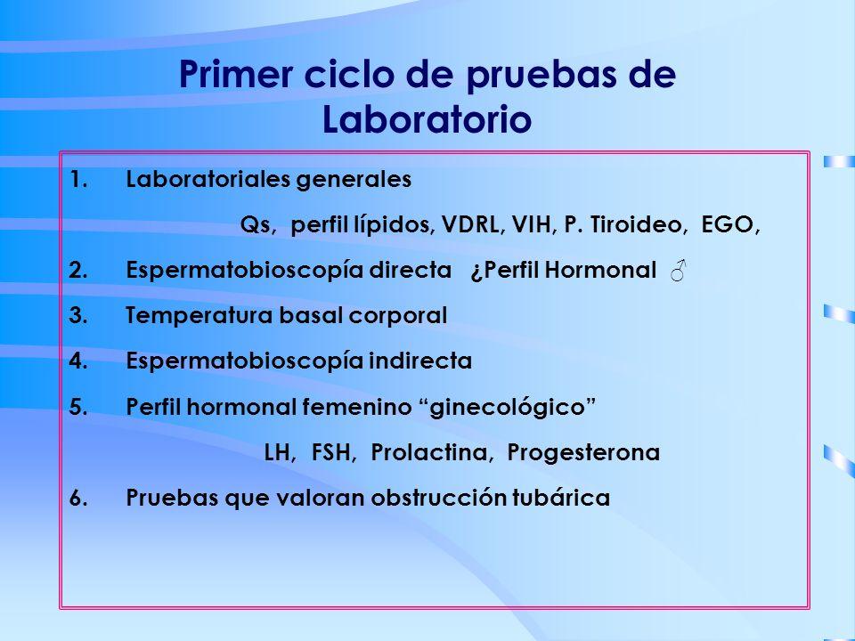 Primer ciclo de pruebas de Laboratorio
