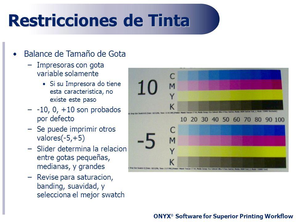 Restricciones de Tinta