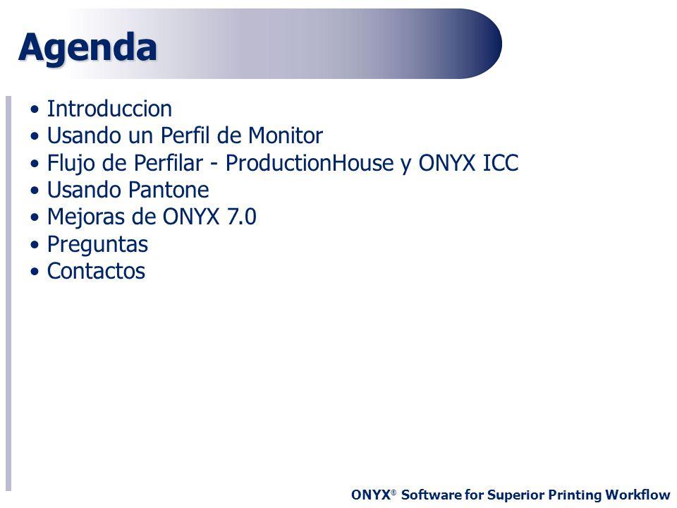 Agenda Introduccion Usando un Perfil de Monitor