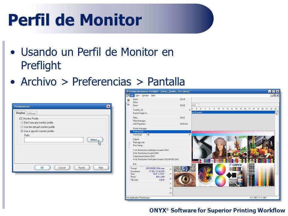 Perfil de Monitor Usando un Perfil de Monitor en Preflight