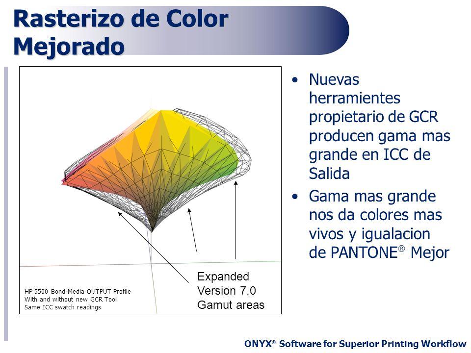 Rasterizo de Color Mejorado