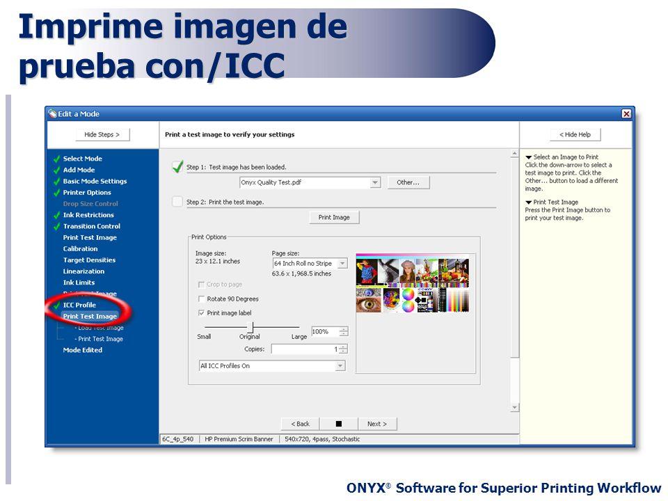 Imprime imagen de prueba con/ICC