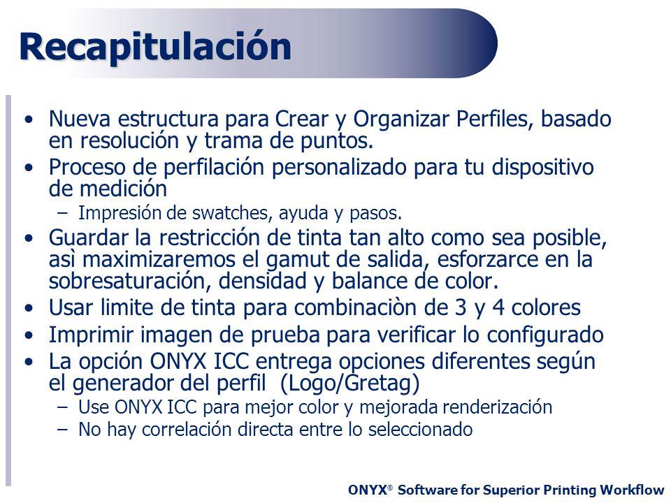 RecapitulaciónNueva estructura para Crear y Organizar Perfiles, basado en resolución y trama de puntos.