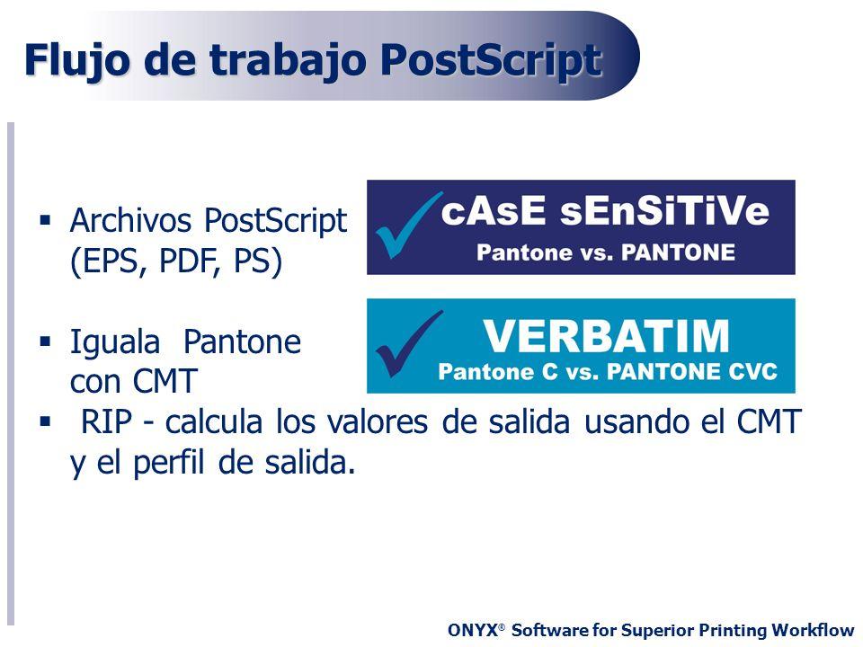 Flujo de trabajo PostScript