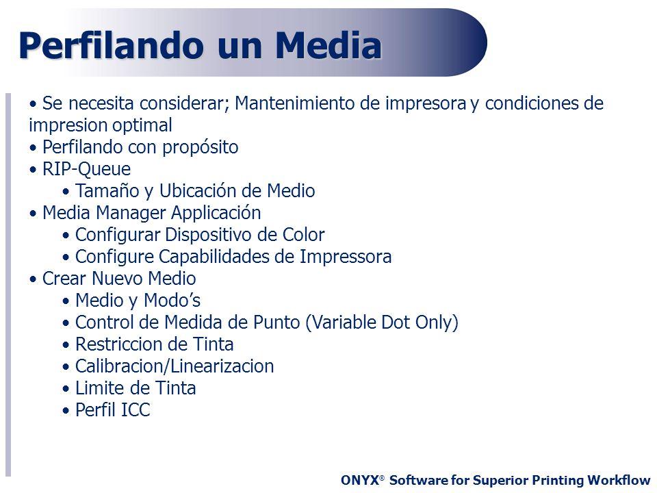 Perfilando un MediaSe necesita considerar; Mantenimiento de impresora y condiciones de impresion optimal.