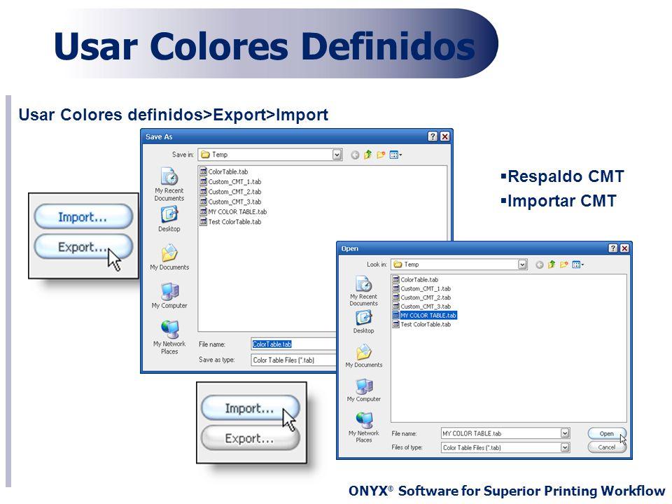 Usar Colores Definidos