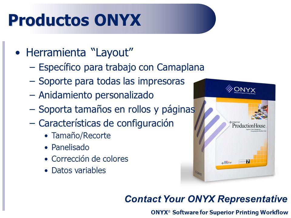 Productos ONYX Herramienta Layout