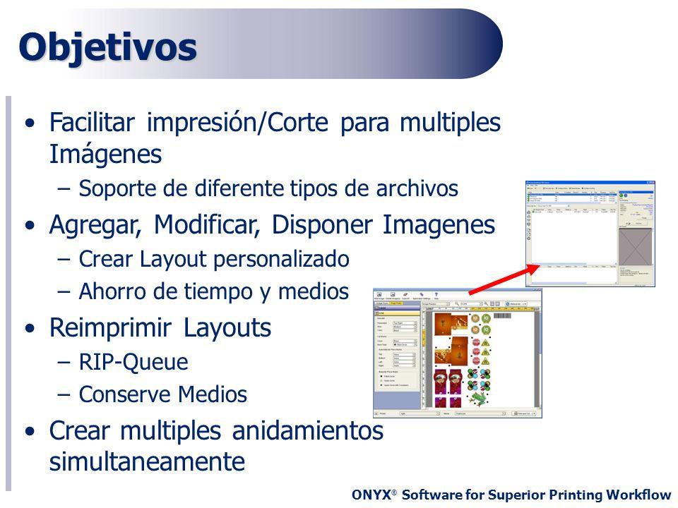 Objetivos Facilitar impresión/Corte para multiples Imágenes