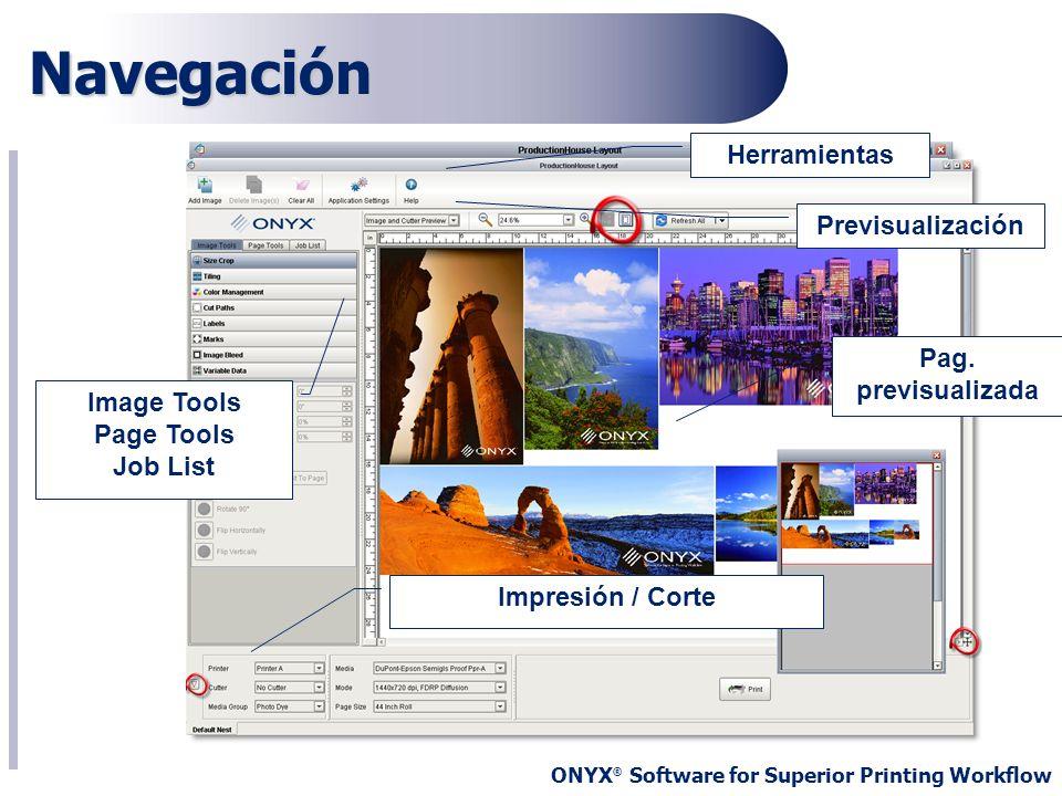 Navegación Herramientas Previsualización Pag. previsualizada
