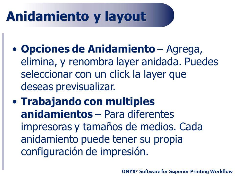 Anidamiento y layout
