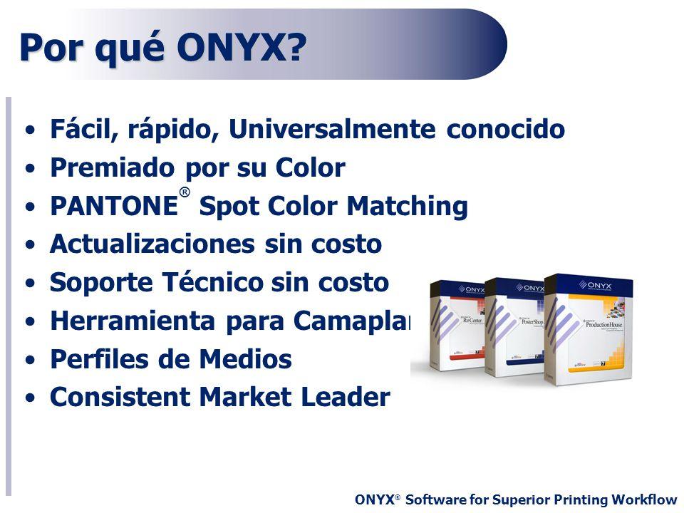Por qué ONYX Fácil, rápido, Universalmente conocido