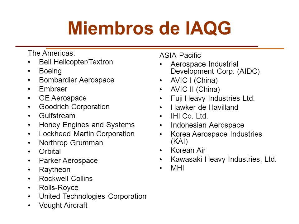 Miembros de IAQG The Americas: ASIA-Pacific Bell Helicopter/Textron