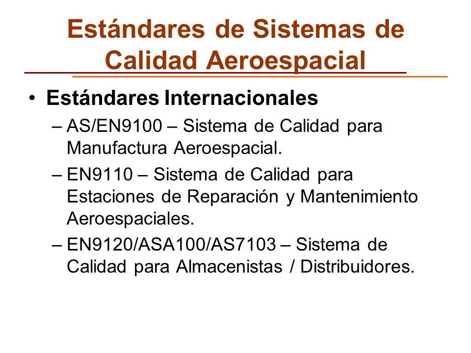 Estándares de Sistemas de Calidad Aeroespacial