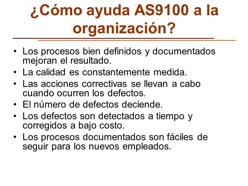 ¿Cómo ayuda AS9100 a la organización