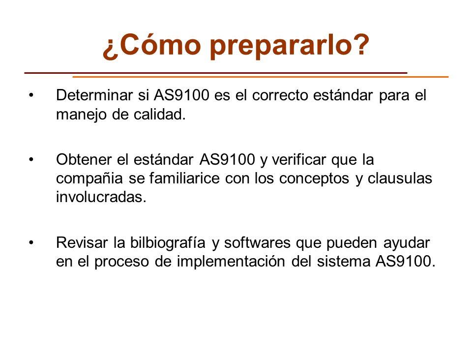 ¿Cómo prepararlo Determinar si AS9100 es el correcto estándar para el manejo de calidad.