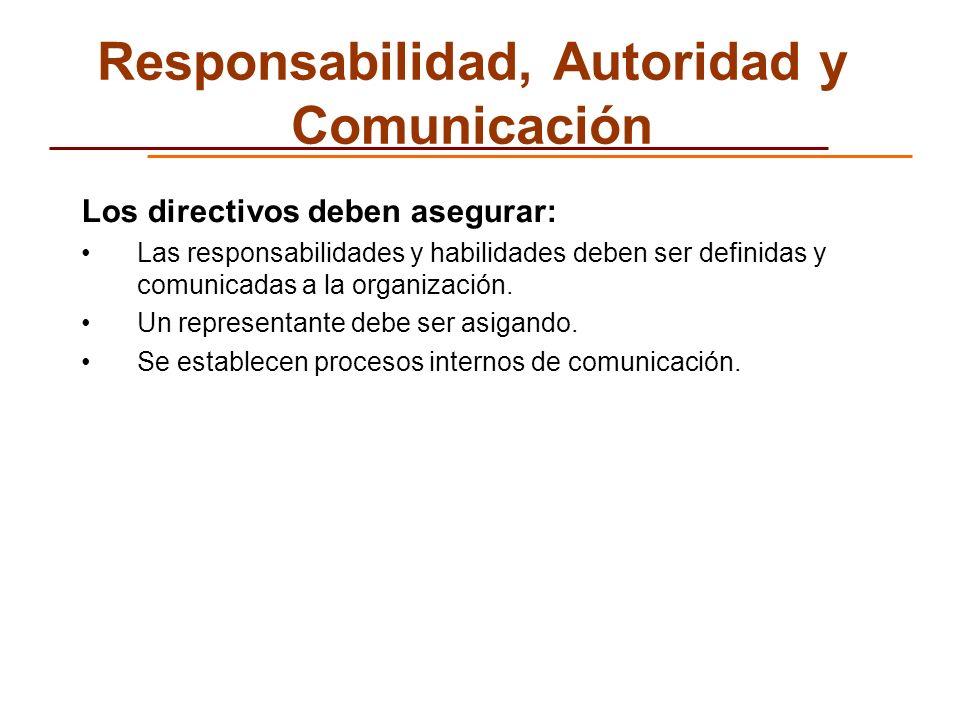 Responsabilidad, Autoridad y Comunicación
