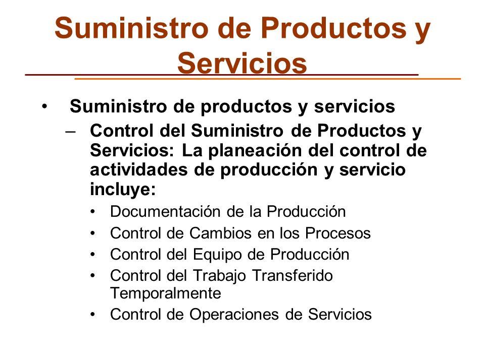 Suministro de Productos y Servicios