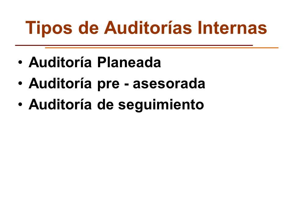Tipos de Auditorías Internas