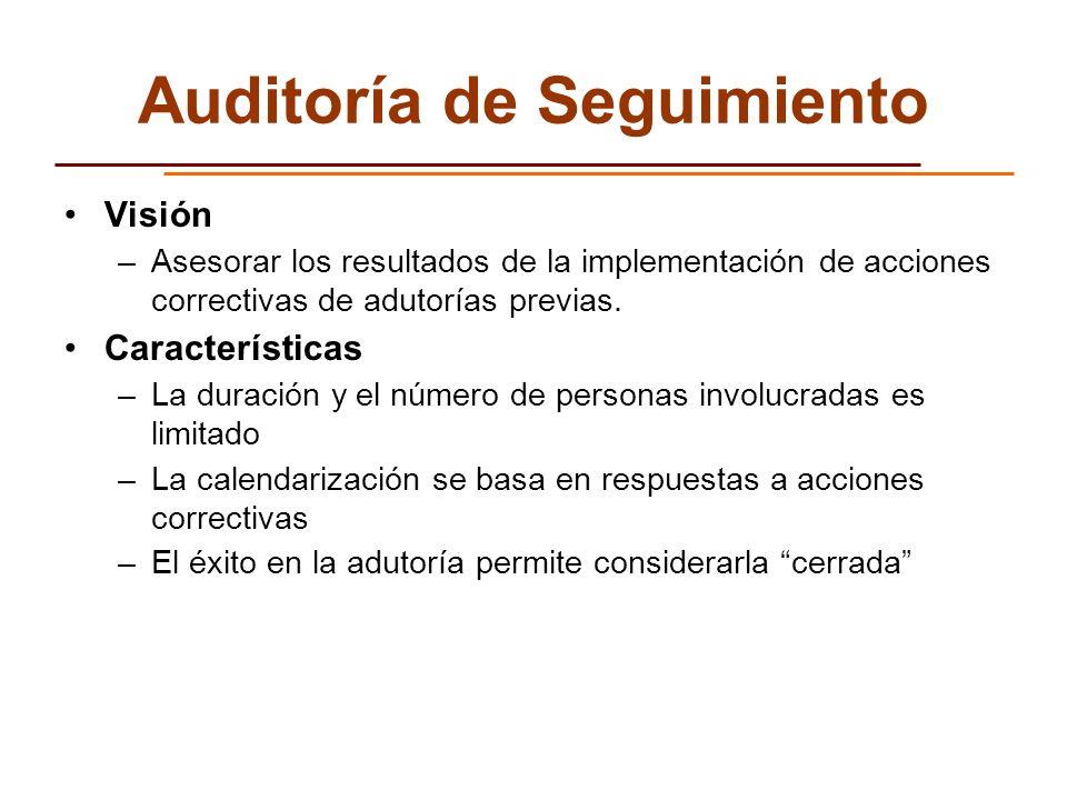 Auditoría de Seguimiento