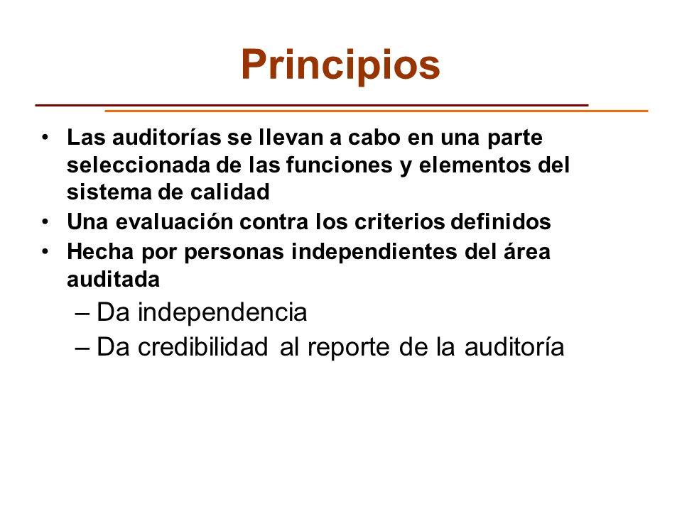 Principios Da independencia Da credibilidad al reporte de la auditoría