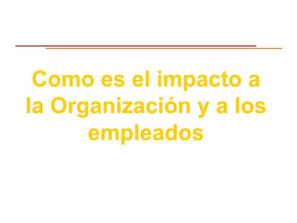 Como es el impacto a la Organización y a los empleados