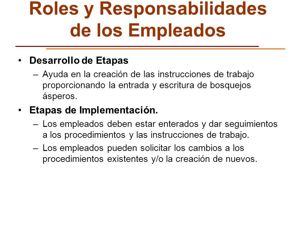 Roles y Responsabilidades de los Empleados