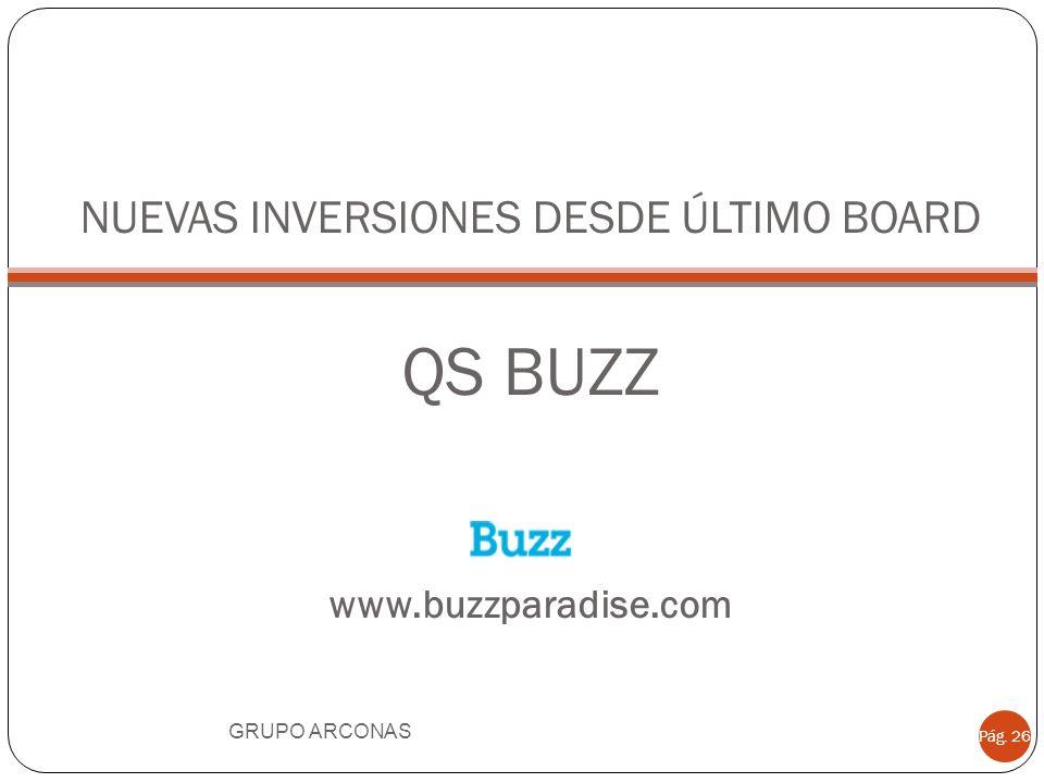 NUEVAS INVERSIONES DESDE ÚLTIMO BOARD QS BUZZ www.buzzparadise.com
