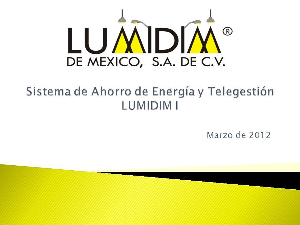 Sistema de Ahorro de Energía y Telegestión LUMIDIM I