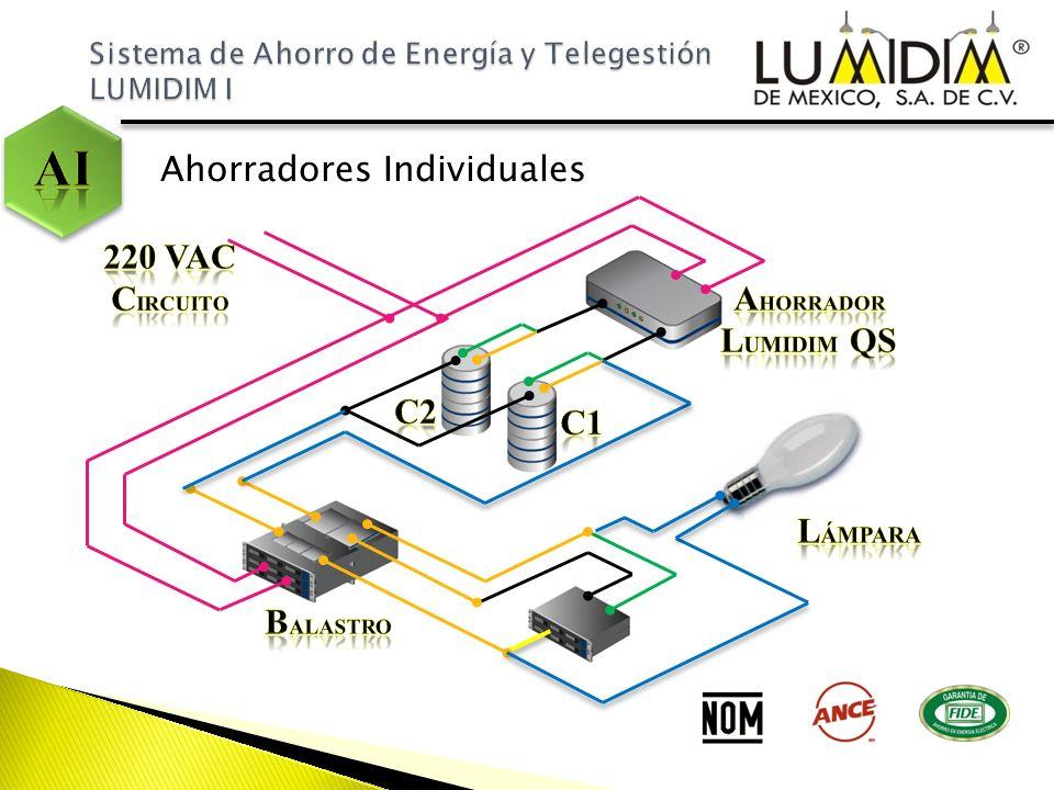 AI Ahorradores Individuales 220 VAC Circuito Ahorrador Lumidim QS C2