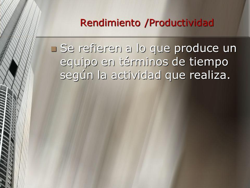 Rendimiento /Productividad