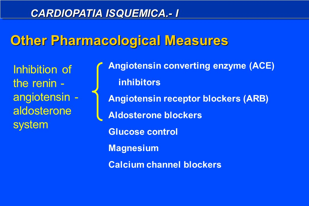 Other Pharmacological Measures