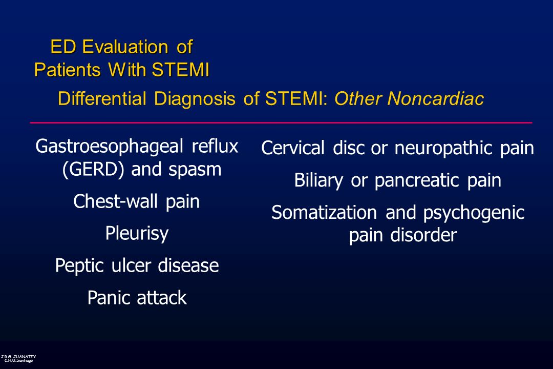 Differential Diagnosis of STEMI: Other Noncardiac