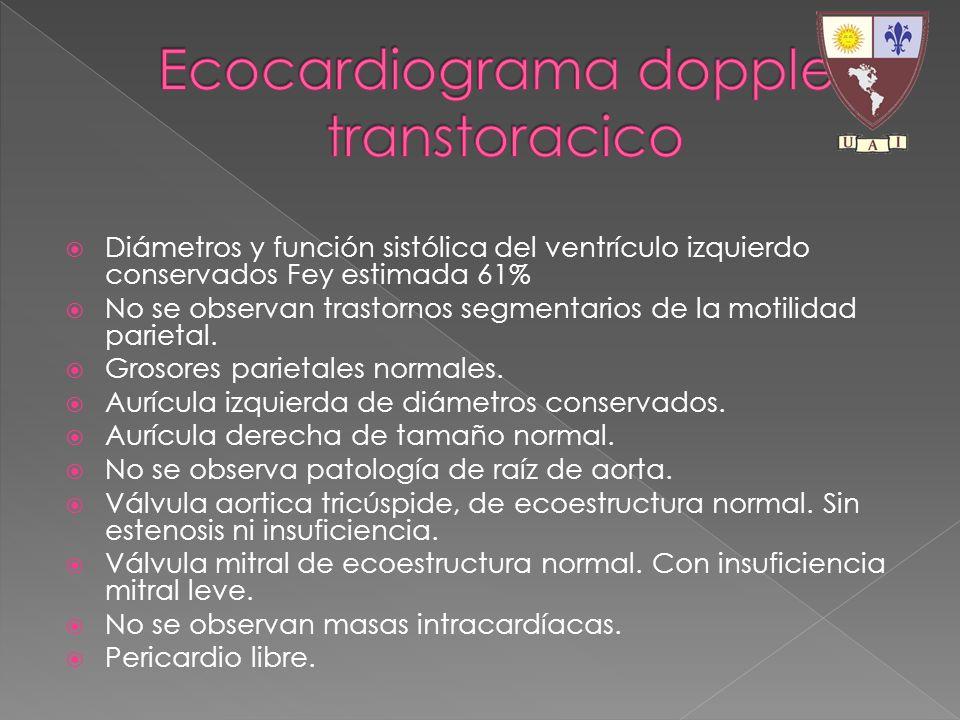 Ecocardiograma doppler transtoracico