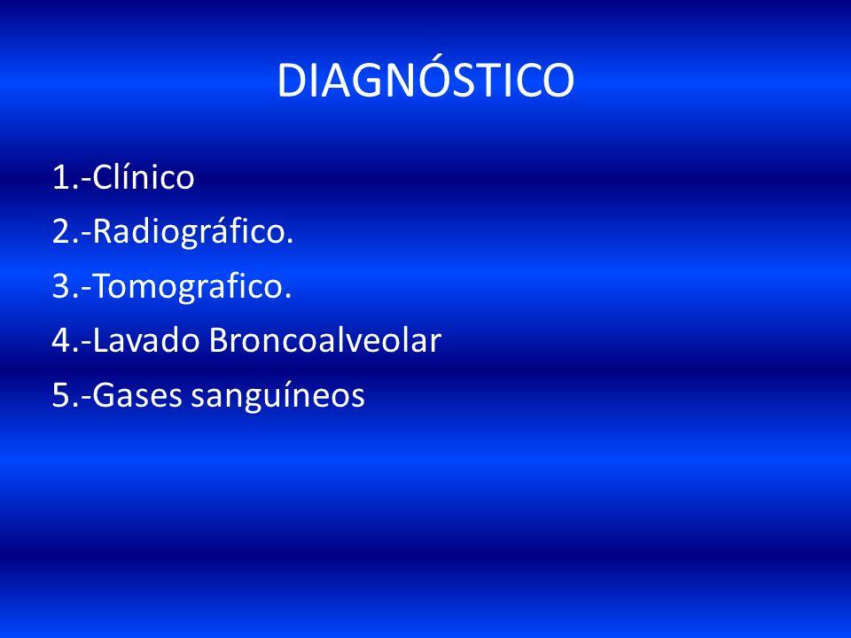 DIAGNÓSTICO 1.-Clínico 2.-Radiográfico. 3.-Tomografico.