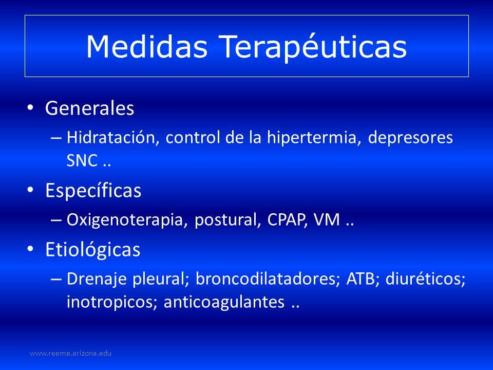 Medidas Terapéuticas Generales Específicas Etiológicas